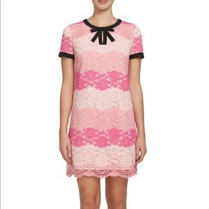 CeCe Brandy pink ombre lace shift dress size 2